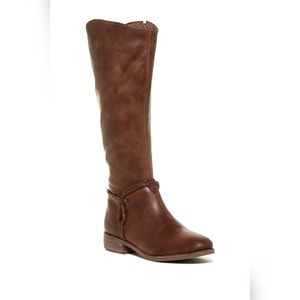Matisse distressed brown leather riding boots